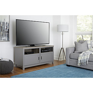 "Media Kadin TV Stand for TVs up to 60"", Gray, rollover"