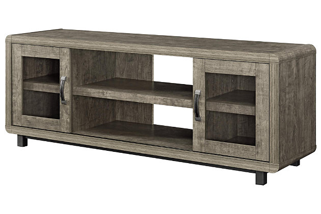 "Weathered Oak Finish Sunland TV Console for TVs up to 55"", , large"