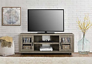 "Weathered Oak Finish Sunland TV Console for TVs up to 55"", , rollover"