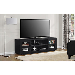 "Storage Emilia TV Stand for TVs up to 72"" Oak, Black, rollover"