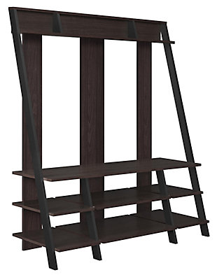"""Distressed Dobbins Entertainment Center for TVs up to 48"""", Espresso, large"""