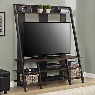"""Distressed Dobbins Entertainment Center for TVs up to 48"""", Espresso, rollover"""