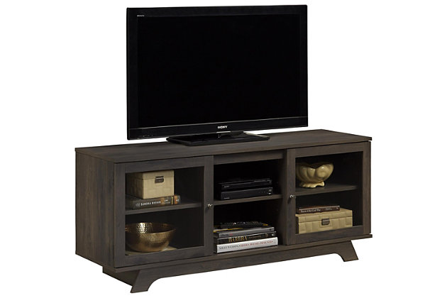 """Woodgrain Finish Forrest TV Stand for TVs up to 55"""", , large"""