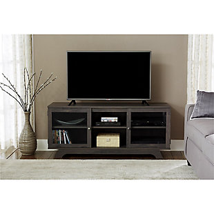 "Woodgrain Finish Forrest TV Stand for TVs up to 55"", , rollover"