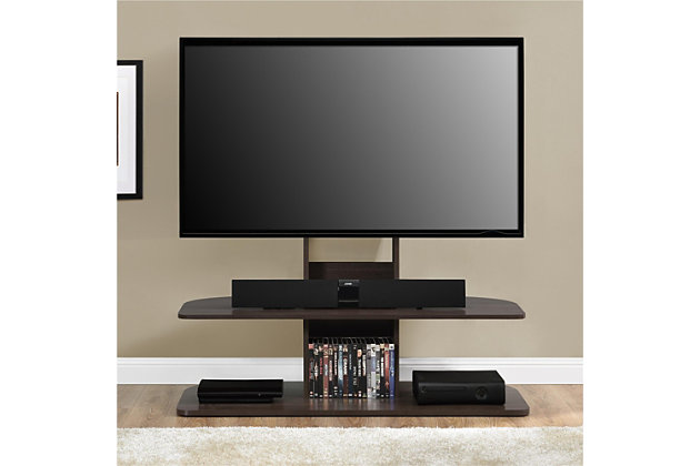 "Espresso Finish Ajax TV Stand with Mount for TVs up to 65"", Espresso, large"