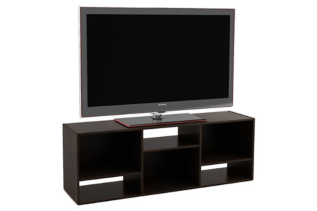 """Espresso Finish Waddell Bookcase/TV Stand for TVs up to 60"""", , large"""