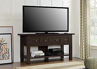 "Cherry Finish Miri Apothecary TV Stand for TVs up to 55"", , rollover"