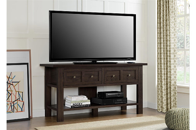 "Cherry Finish Miri Apothecary TV Stand for TVs up to 55"", , large"