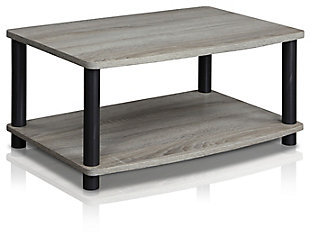 """Furinno 23.8"""" Turn-N-Tube 2-Tier Elevated TV Stand, , rollover"""