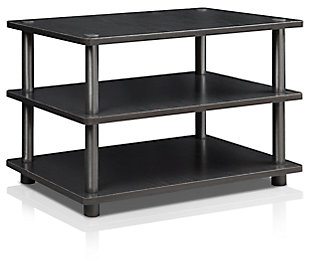 "Furinno 23.6"" Turn-N-Tube Easy Assembly 3-Tier Corner TV Stand, , rollover"