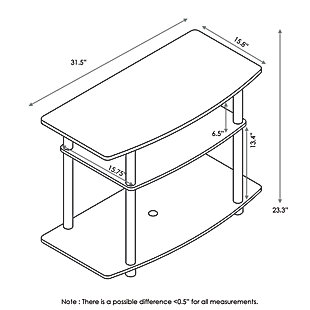 Furinno Turn-N-Tube 3-Tier TV Stand, , large