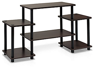 Furinno Turn-N-Tube Entertainment Center, Brown/Black, large