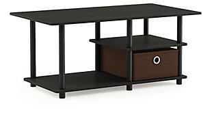 "Furinno Turn-N-Tube TV Stand for TV up to 45"" with Storage Bin, , large"