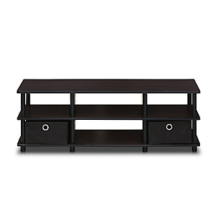 Furinno Econ TV Entertainment Center with Storage Bins, , large