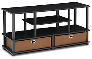 "Furinno Jaya Large TV Stand for up to 50"" TV with Storage Bin, , large"