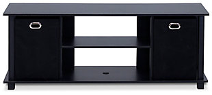 Furinno Econ Entertainment Center with Storage Bins, , large