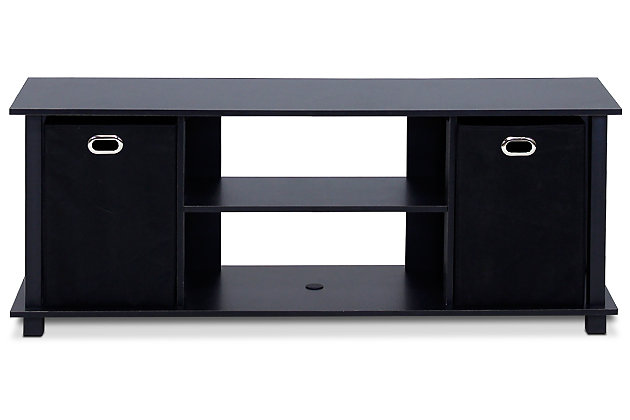 """Furinno 41.7"""" Econ Entertainment Center with Storage Bins, , large"""