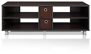 Furinno Dario TV Entertainment Center with 2 Bin Drawers, , large