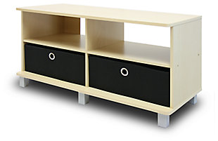 """Furinno Andrey 37"""" Entertainment Center with 2 Bin Drawers, , large"""