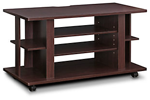 "Furinno 39.4"" Indo 4-Tier Low Rise Tatami TV Stand with Casters, , large"