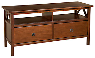 "Titan 44"" TV Stand, Brown, rollover"