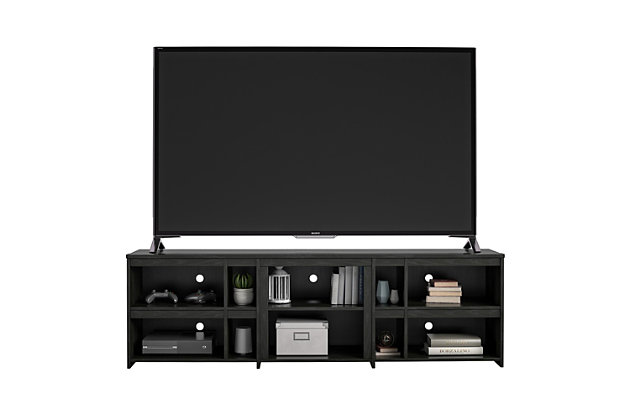 "Ameriwood Home Galen TV Stand for TVs up to 70"", Black, large"