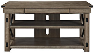"Ameriwood Home Broadmore Wood Veneer TV Stand for TVs up to 65"", Gray, large"