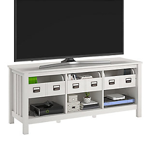 """Ameriwood Home Roseland TV Stand for TVs up to 64"""", White, large"""