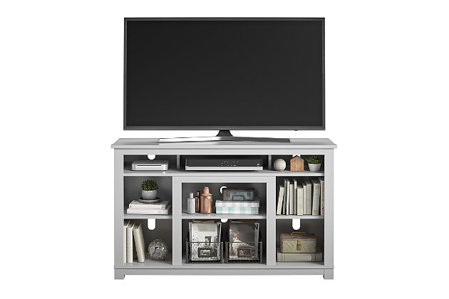 """Ameriwood Home Rossi TV Stand for TVs up to 55"""", Gray, large"""