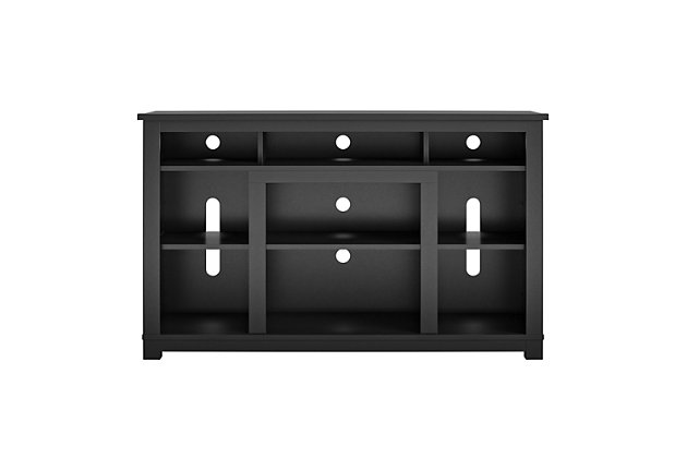 """Ameriwood Home Rossi TV Stand for TVs up to 55"""", Black, large"""