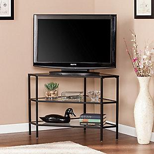 "Southern Enterprises 34.5"" Tenna Metal/Glass Corner TV Stand, , rollover"