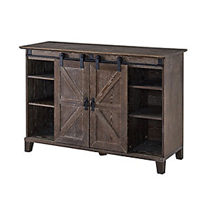 Southern Enterprises Massen Barn Door TV Stand, , large