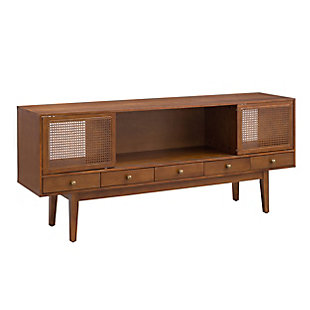 "Southern Enterprises 70"" Simms Midcentury Modern Media Console, Brown, large"