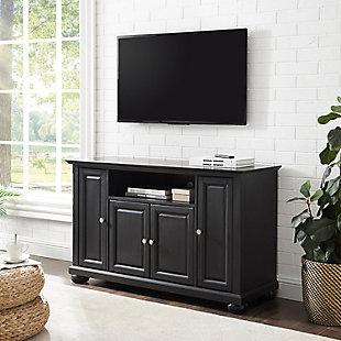 """Crosley Alexandria 48"""" TV Stand, Black, rollover"""