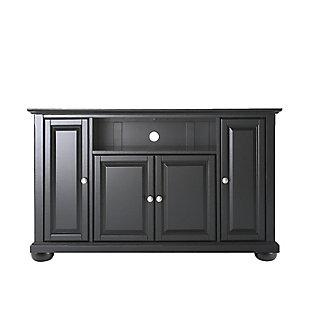 "Crosley Alexandria 48"" TV Stand, Black, large"