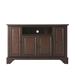 "Crosley Lafayette 48"" TV Stand, Dark Brown, large"