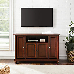 "Crosley Cambridge 48"" TV Stand, Dark Brown, large"