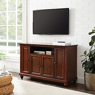 "Crosley Cambridge 48"" TV Stand, Dark Brown, rollover"