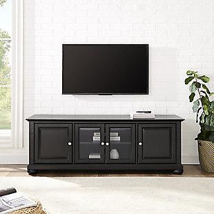 """Crosley Alexandria 60"""" Low Profile TV Stand, Black, rollover"""