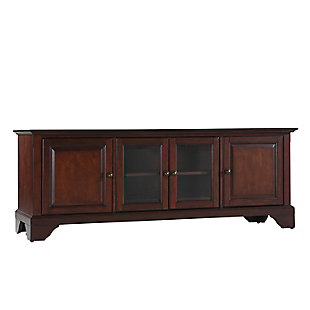 "Crosley Lafayette 60"" Low Profile TV Stand, Dark Brown, large"