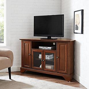 "Crosley Lafayette 48"" Corner TV Stand, Dark Brown, rollover"
