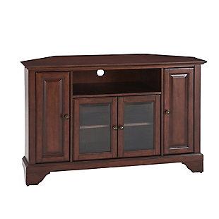"Crosley Lafayette 48"" Corner TV Stand, Dark Brown, large"