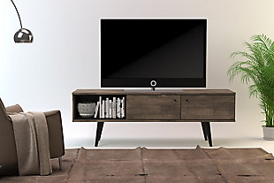 International Home Distressed 2-Cabinet TV Stand, Brown, rollover