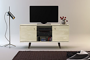 International Home 3-Shelf TV Stand, Sand, large