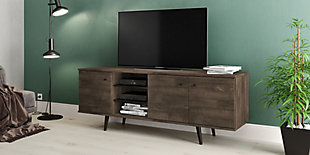 International Home Distressed 3-Cabinet TV Stand, Brown, rollover