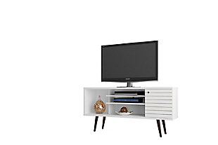 """Manhattan Comfort Liberty 53.14"""" TV Stand in White, White, large"""