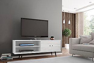 "Manhattan Comfort Liberty 62.99"" TV Stand in White, White, rollover"