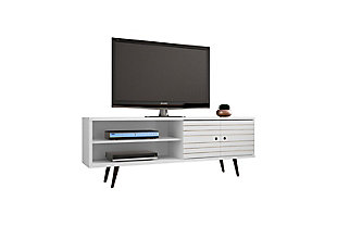 """Manhattan Comfort Liberty 62.99"""" TV Stand in White, White, large"""