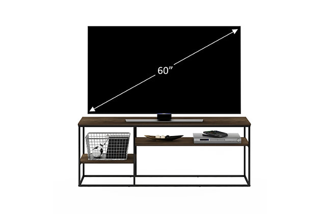 Furinno Moretti Modern Lifestyle TV Stand  Furinno Moretti Modern Lifestyle TV Stand for TV up to 65 Inch, Columbia Walnut, Brown, large