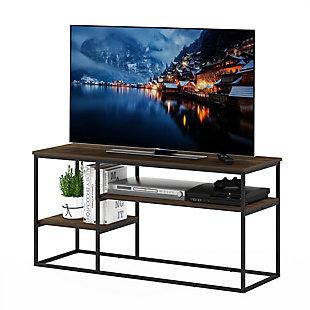 Furinno Moretti Modern Lifestyle TV Stand  Furinno Moretti Modern Lifestyle TV Stand for TV up to 50 Inch, Columbia Walnut, Brown, large